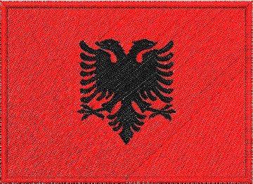 Nášivka Albánská vlajka Pelisport