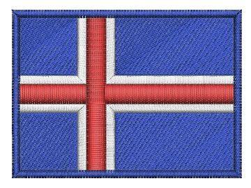 Nášivka Islandská vlajka Pelisport