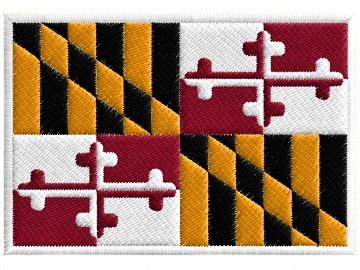 Nášivka Maryland vlajka am. státu