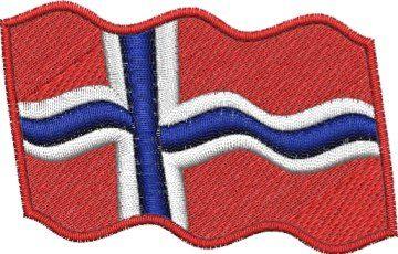 Nášivka Norská vlajka vlající Pelisport