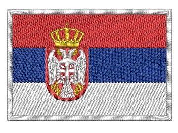 Nášivka Srbská vlajka Pelisport