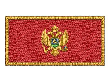 Nášivka Vlajka Černé Hory