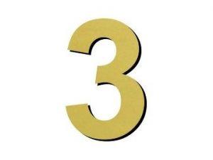 Číslice 3 - 1 ks plast