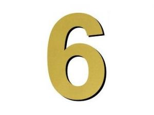 Číslice 6 - 1 ks plast