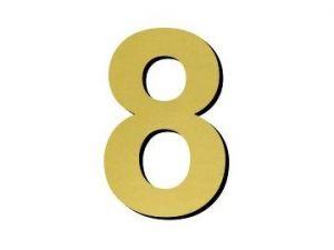 Číslice 8 - 1 ks plast