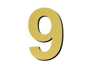 Číslice 9 - 1 ks plast