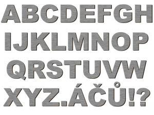 Písmena typ P01 - 1 ks