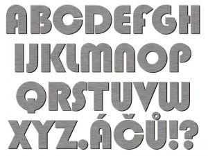 Písmena typ P02 - 1 ks