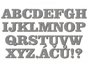 Písmena typ P03 - 1 ks