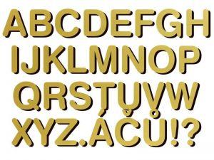 font Swiss 721 BdRnd AT zlatý plast