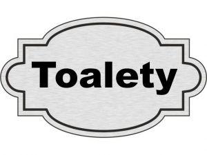 Dveřní štítek Toalety stříbrný