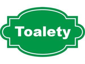 Dveřní štítek Toalety zelený