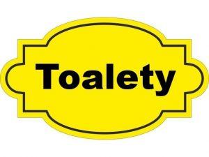 Dveřní štítek Toalety žlutý