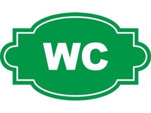 Dveřní štítek WC zelený