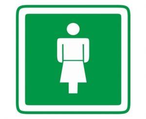 dveřní štítek Dámy zelený