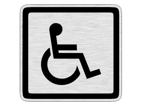 Dveřní štítek invalida stříbrný