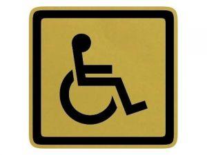 Dveřní štítek invalida zlatý