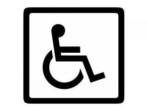 Dveřní štítek invalida bílý