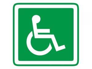 Dveřní štítek invalida zelený