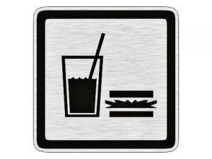Dveřní štítek občerstvení stříbrný