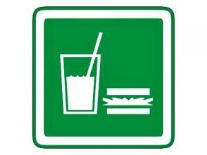 Dveřní štítek občerstvení zelený
