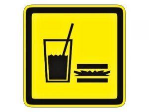Dveřní štítek občerstvení žlutý