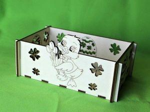 Krabička velikonoční s kačenkou