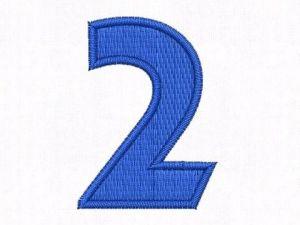 Nášivka čísla 2