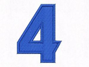 Nášivka čísla 4