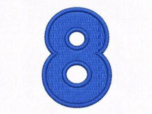 Nášivka čísla 8