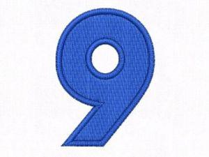 Nášivka čísla 9