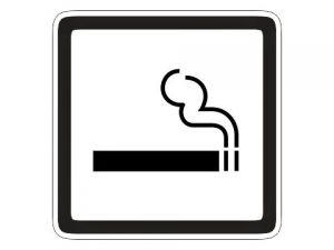 Piktogram kouření povoleno bílý