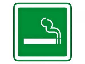 Piktogram kouření povoleno zelený