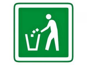Piktogram odpadkový koš zelený