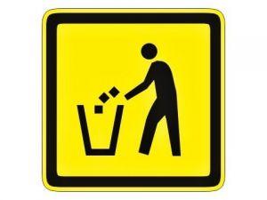 Piktogram odpadkový koš žlutý