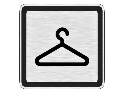 Piktogram Šatna stříbrný