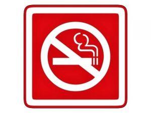 Piktogram zákaz kouření červený