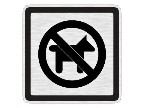 Piktogram Zákas vstupu psům stříbrný