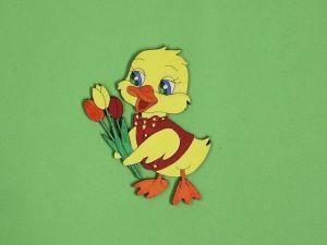 Káčátko s tulipány barevné