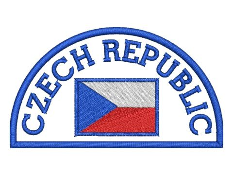 Nášivka Czech republic modrá