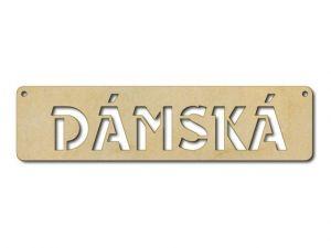 cedulka s textem Dámská