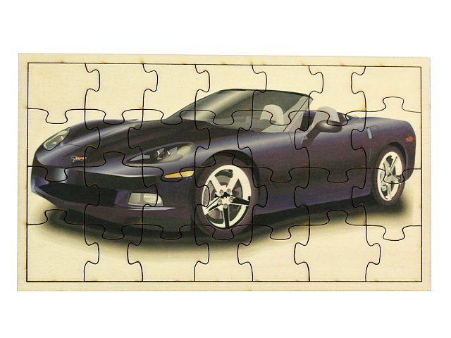 Dřevěné puzzle Auto