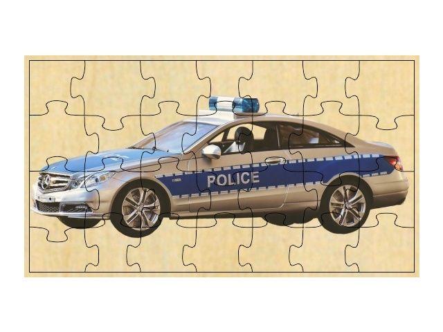 Dřevěné puzzle aoto Police