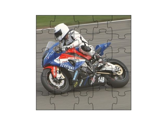 Dřevené puzzle motorka