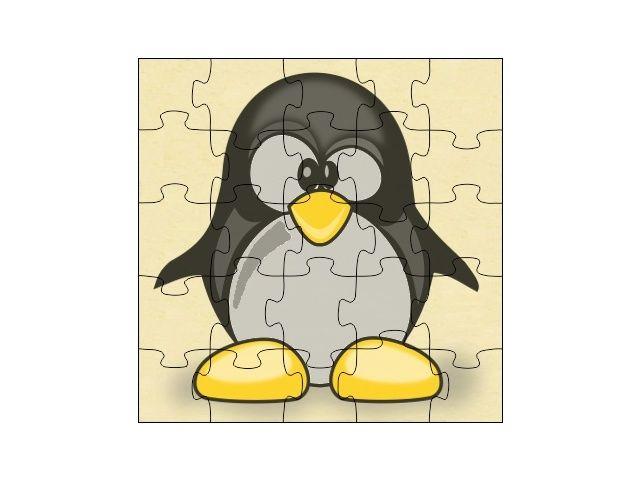 Dřevěné puzzle Tučńák