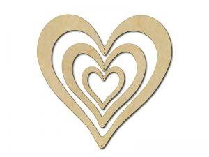 Dekorace 3 srdce