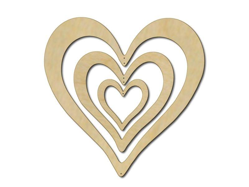 Nástěnná dekorace Srdce