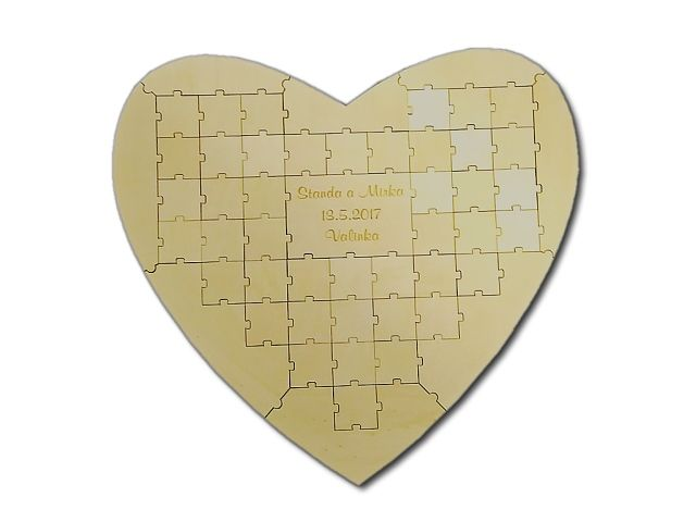 svatební puzzle srdce