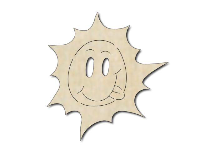 výřez sluníčko