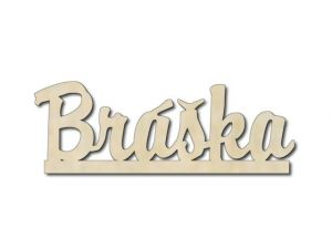 Dřevěná dekorace Bráška